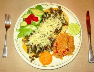 Mushroom Tacos, Mexican Red Rice