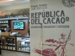 Chocolate shop Quito airport