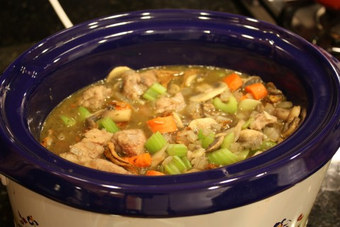 in the crockpot