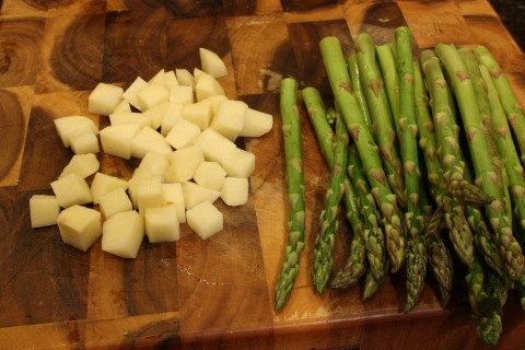 spuds and asparagus