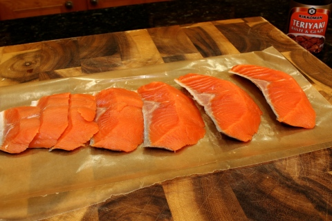slice the salmon like this