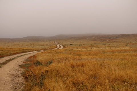 The road to the buttes.